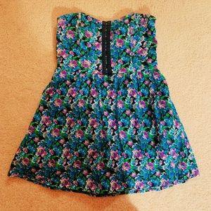 💕 Material Girl Floral Print Romper Dress 💕